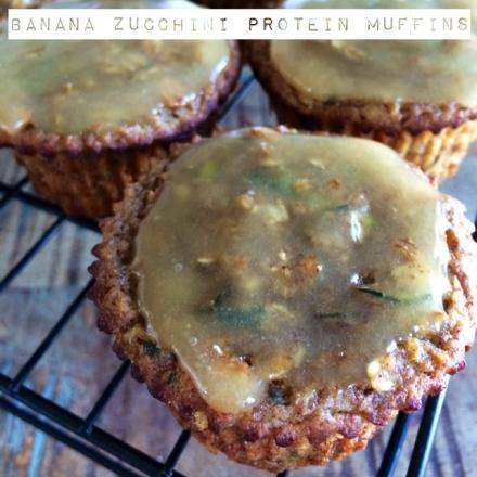 Banana Zucchini Protein Muffins
