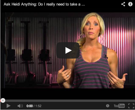 Ask Heidi Anything: Why Do I Need To Take Before and After Pics?