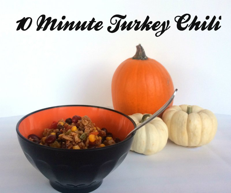10 Minute Turkey Chili: Our Halloween Tradition
