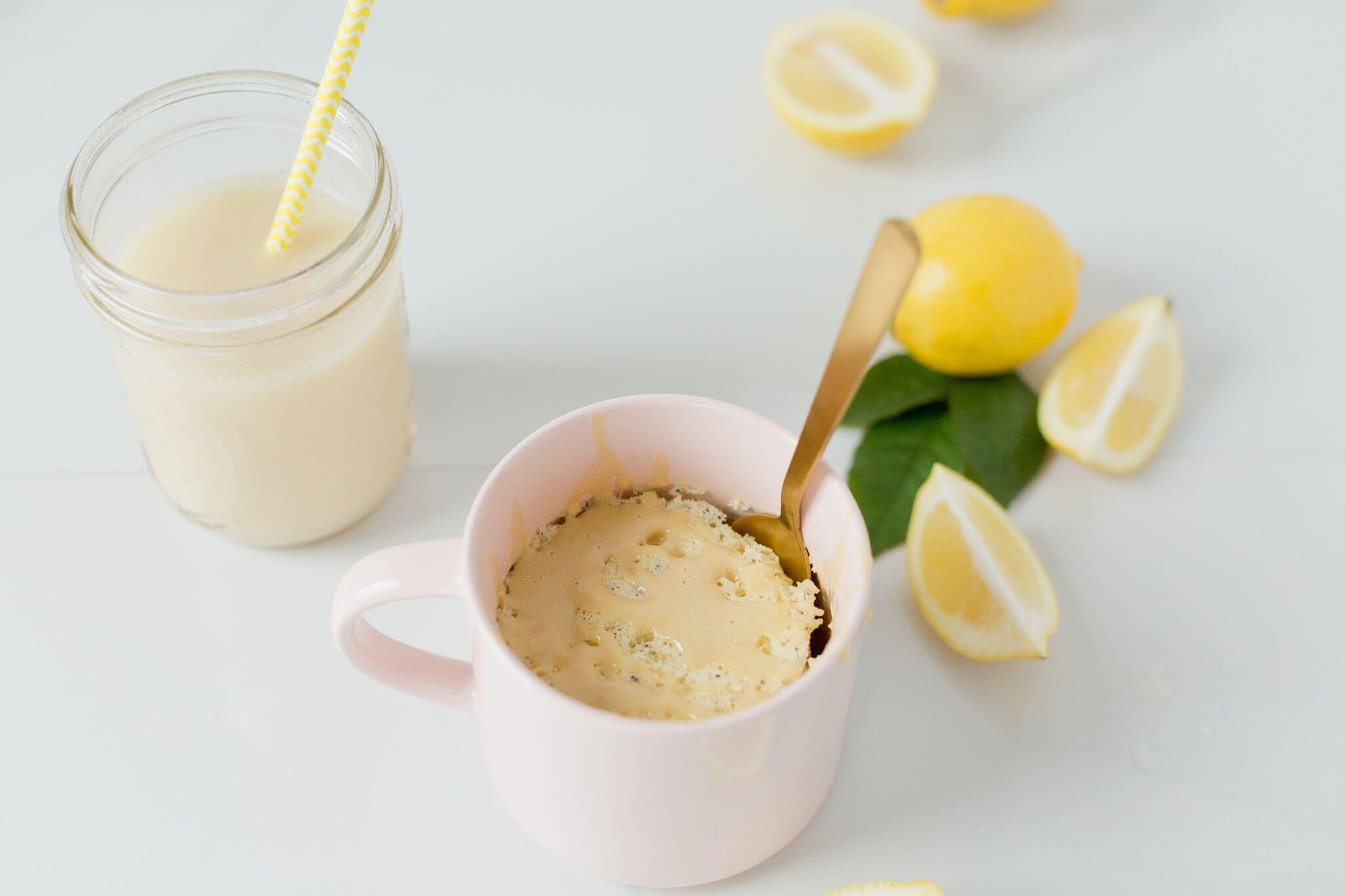 Lemon Poppy Seed Mug Cake