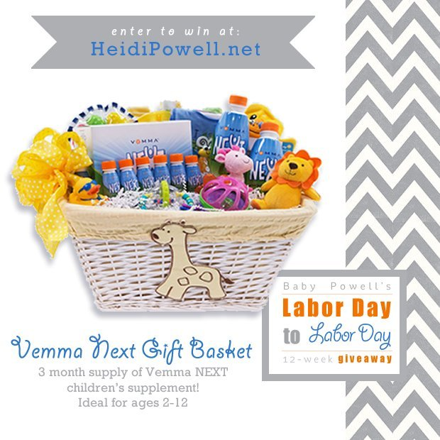 Enter this #babypowell giveaway at https://heidipowell.net/3839 to win prizes!