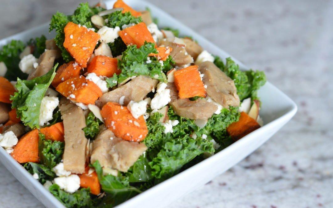 Tasty Thanksgiving Vegetarian Side Dish || Kale Sweet Potato Salad