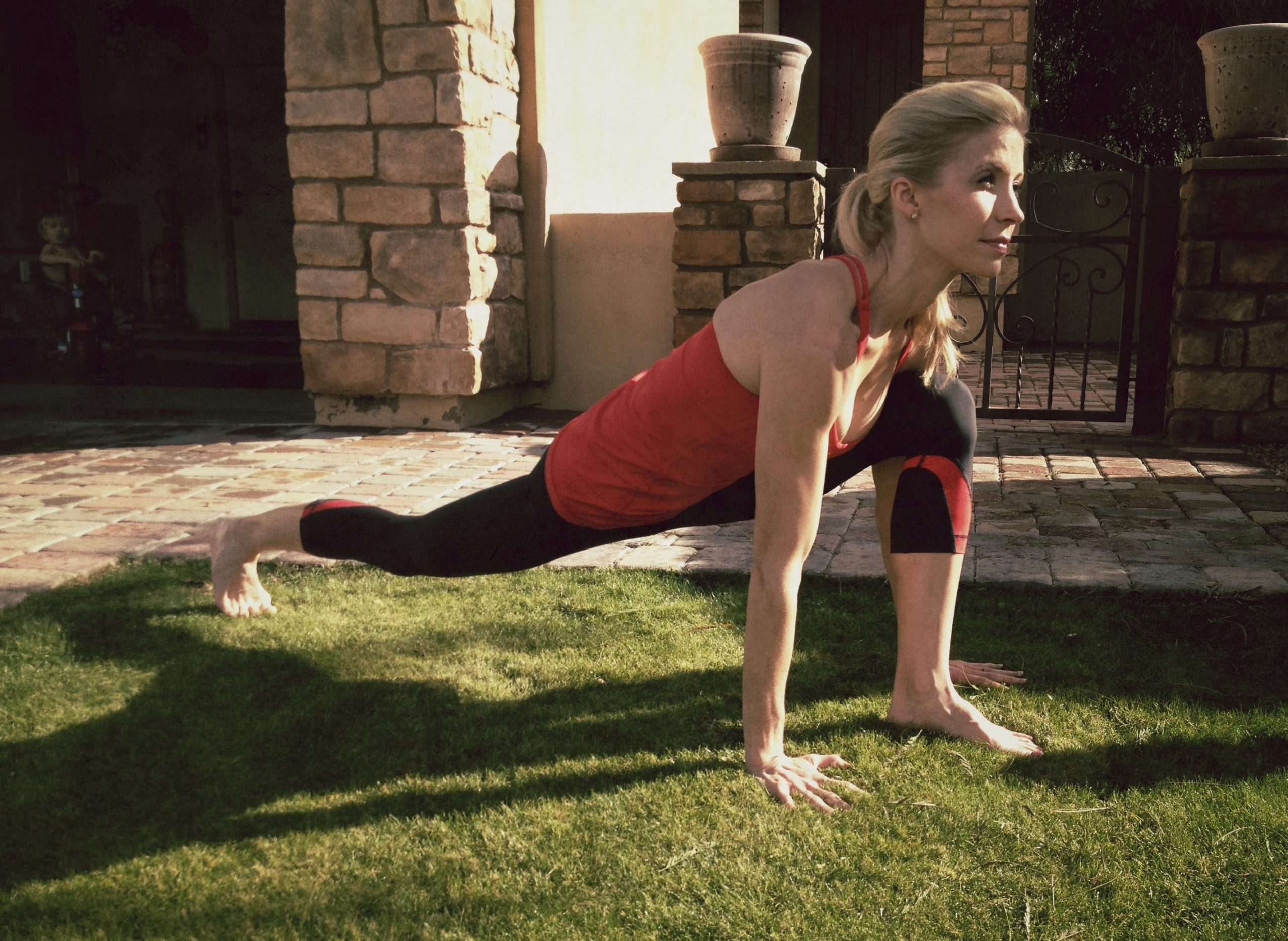 #YogaWorkout with #HeidiPowell Equestrain Yoga Pose - Learn more at https://heidipowell.net/305