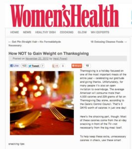 How NOT to Gain Weight This #Thanksgiving from #HeidiPowell #HealthyThanksgiving - Learn more at http://HeidiPowell.net/43