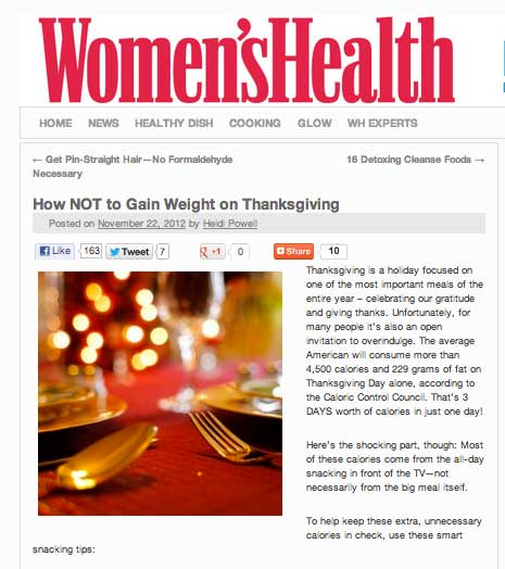 How NOT to Gain Weight This #Thanksgiving from #HeidiPowell #HealthyThanksgiving - Learn more at https://heidipowell.net/43