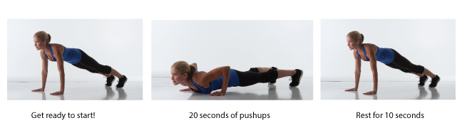 #HeidiPowell 4 Minute Workout #QuickWorkout #BusyMomWorkout #Pushups - Learn more at https://heidipowell.net/65
