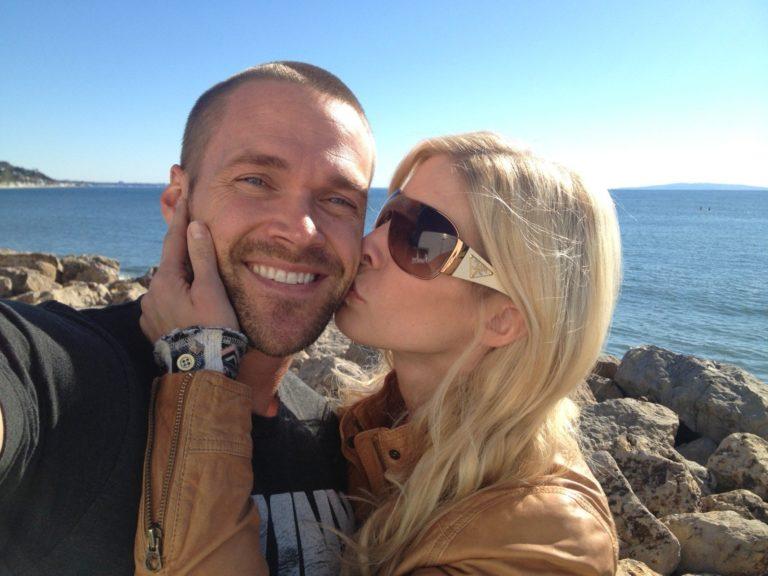 Heidi Powell and husband, Chris Powell at California beach