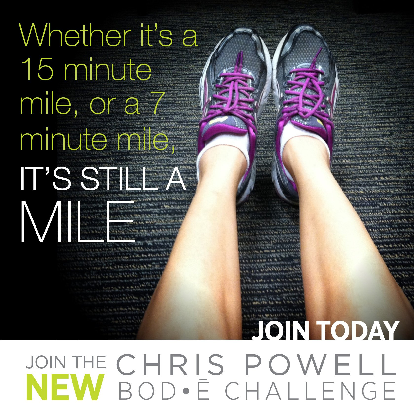 Whether its a 15 minute mile or a 7 minute mile, its still a mile https://heidipowell.net/184