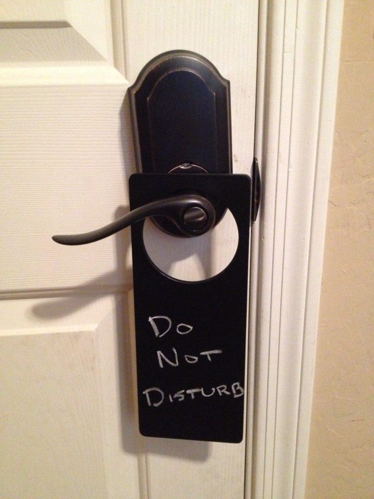 Please do not disturb!