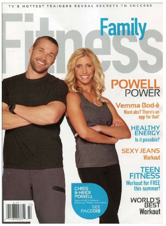 Family Fitness Magazine featuring #ChrisPowell and #HeidiPowell - Learn more at https://heidipowell.net/641