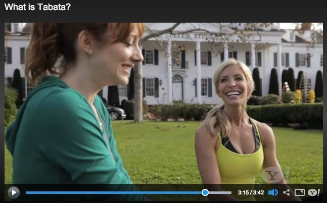 Judy Greer and Heidi Powell discuss Tabata and Burpees - Learn more at http://HeidiPowell.net/510