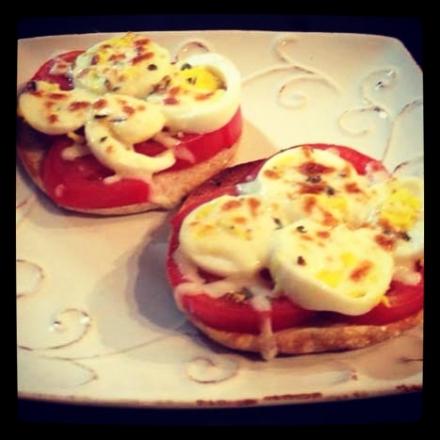 Gluten-Free English Muffin Egg Pizzas