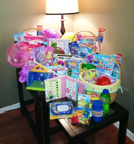 Easter Baskets Loaded with Fun, NOT Candy!