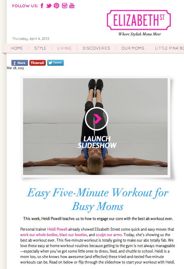 5 Minute Workout ? Fab Abs - Learn more at https://heidipowell.net/1057