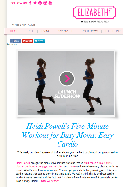 Easy Cardio Workout - Learn more at http://HeidiPowell.net/1090