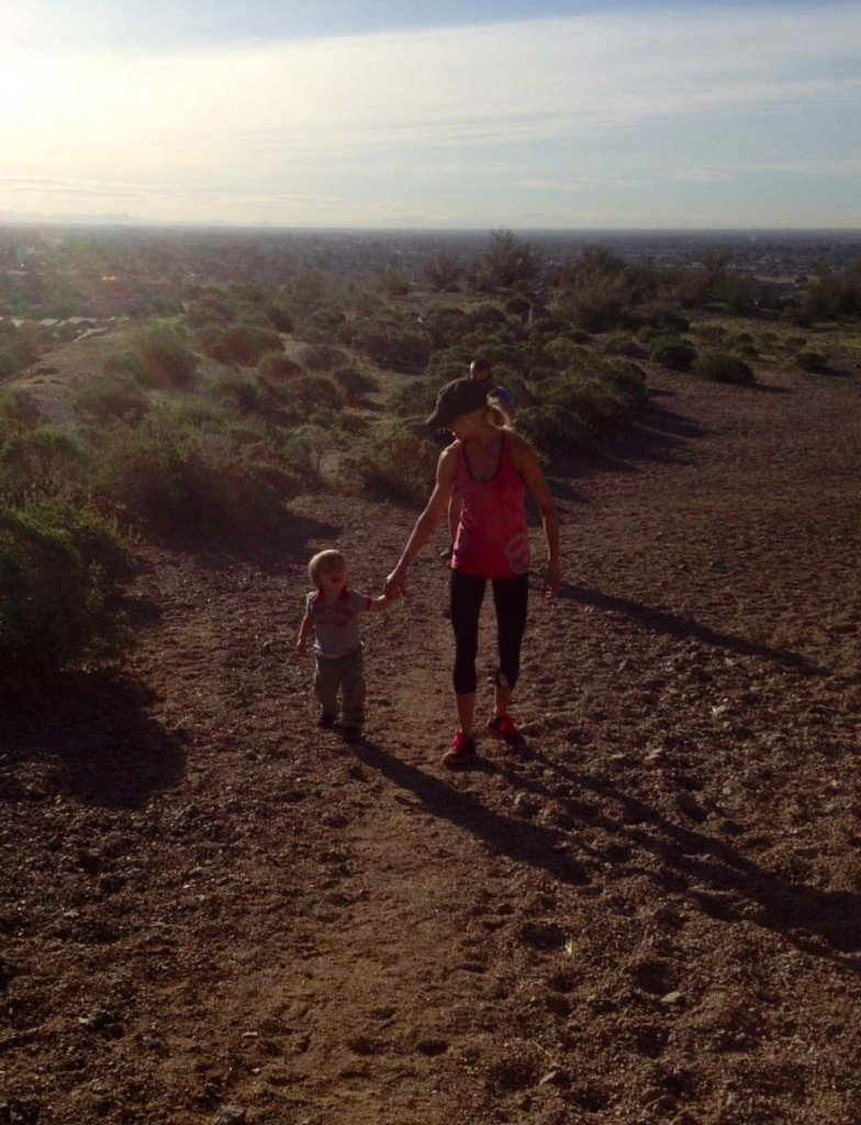 Celebrity Trainer Heidi Powell Hiking with Son Cash - Learn more at http://HeidiPowell.net/1936