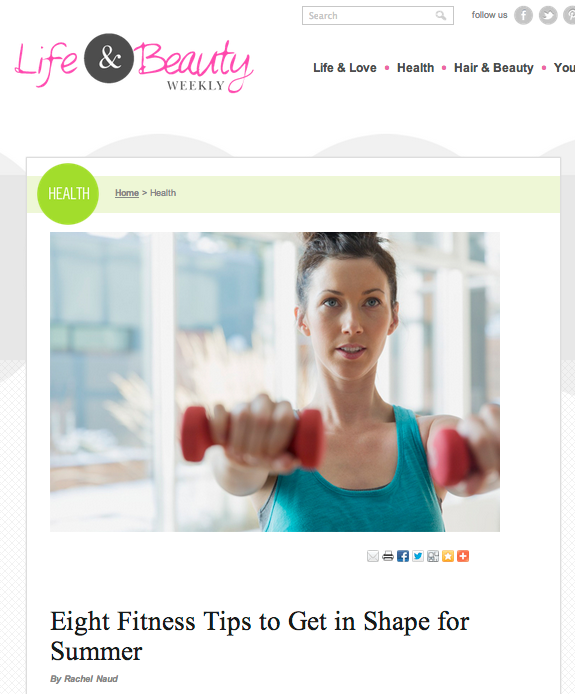 Eight Fitness Tips to Get in Shape for Summer - Learn more at https://heidipowell.net/1564