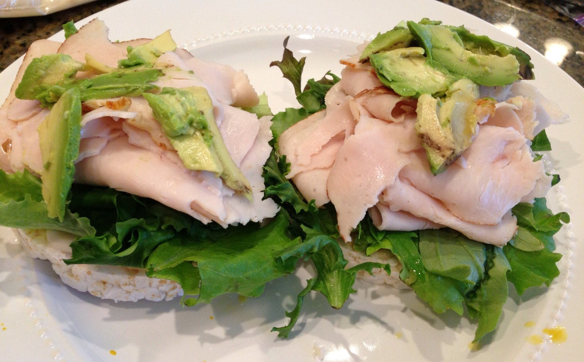 Open faced Lower Carb Turkeywiches - Get the recipe at https://heidipowell.net/2239