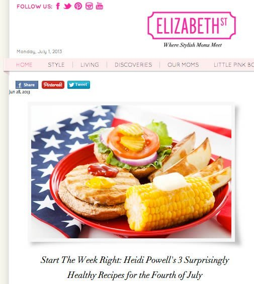Healthy 4th of July BBQ Recipes from Celebrity Trainer Heidi Powell - Learn more at https://heidipowell.net/2416