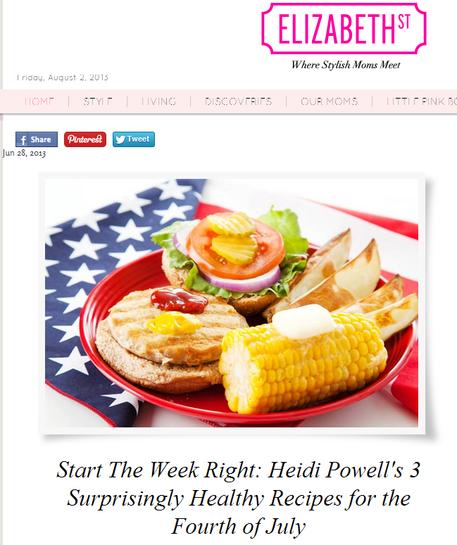 4th of July Recipes from Celebrity Trainer Heidi Powell - Learn more at http://HeidiPowell.net/2771