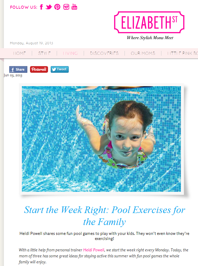 Celebrity Trainer Heidi Powell Shares Pool Exercises for the Family - Learn more at http://HeidiPowell.net/2980