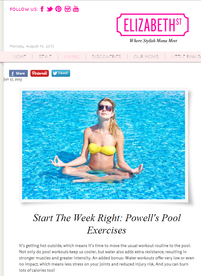 Celebrity Trainer Heidi Powell's Pool Exercises - Learn more at https://heidipowell.net/2977