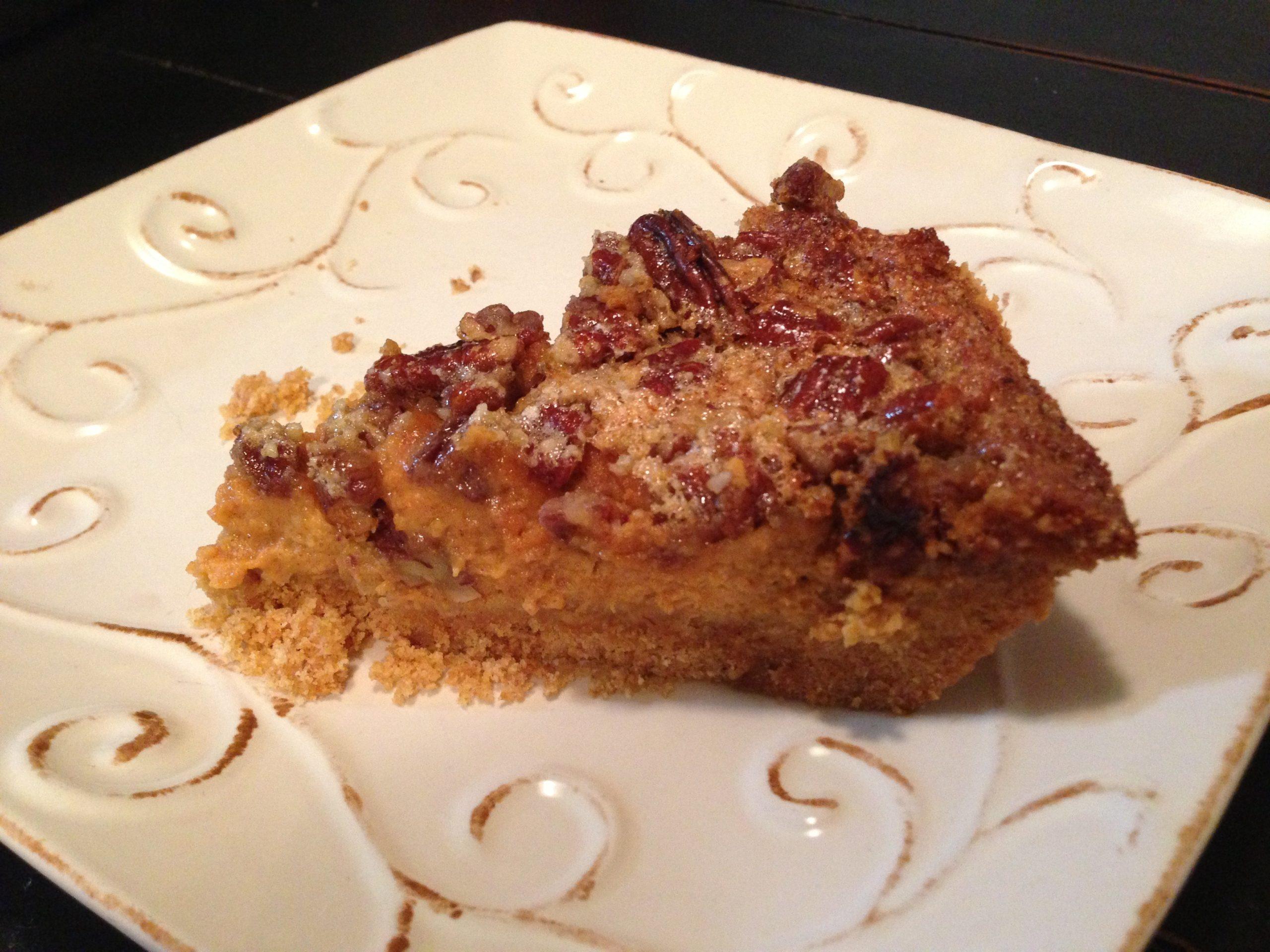 Powell Favorite Pecan Pumpkin Cheesecake - Get the recipe at https://heidipowell.net/3688