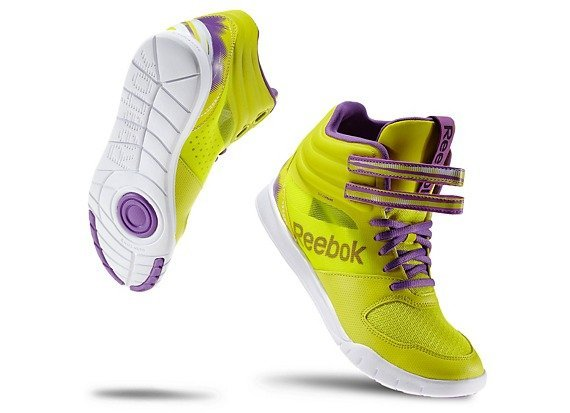 "Reebok's ""Dance UR Lead Mid"" in Solar Green - Learn more at http://HeidiPowell.net/3581"