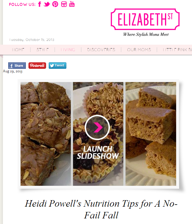 Heidi Powell's Nutrition Tips for A No-Fail Fall - Learn more at https://heidipowell.net/4202
