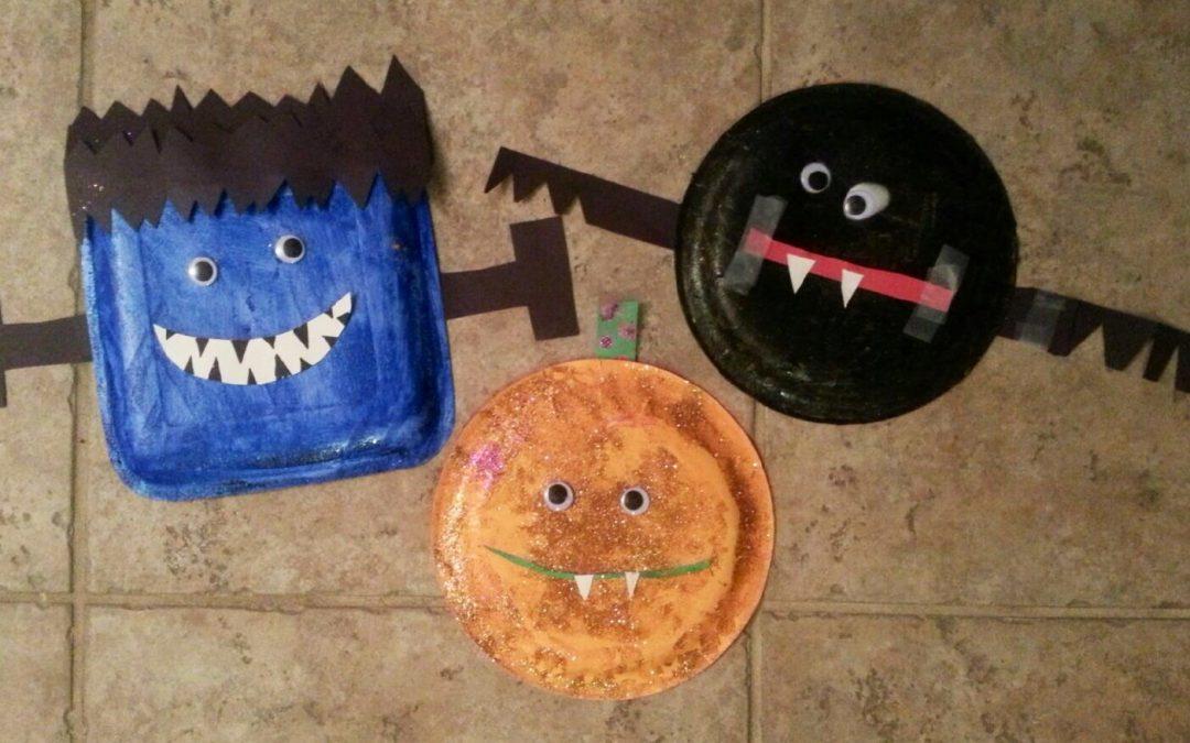 Kids Halloween Craft: Monster Masks!