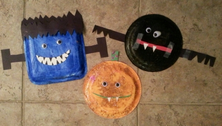 Kids Halloween Craft: Monster Masks!