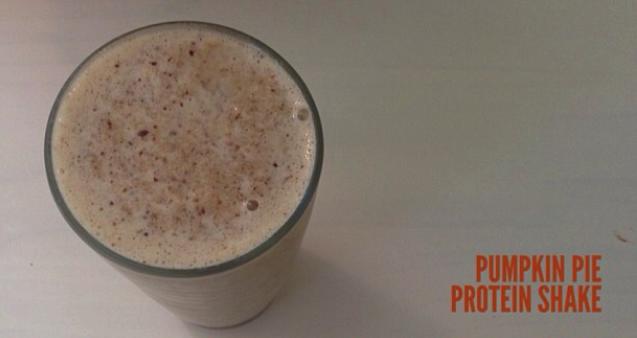 Pumpkin Pie + Protein Shake = Low Carb Heaven