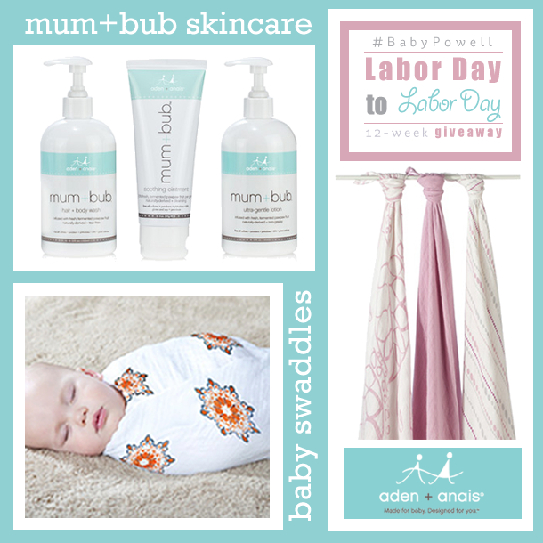 Enter to win the #BabyPowell aden+anais giveaway at https://heidipowell.net/4592