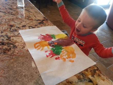 Cash's Thanksgiving Turkey Craft
