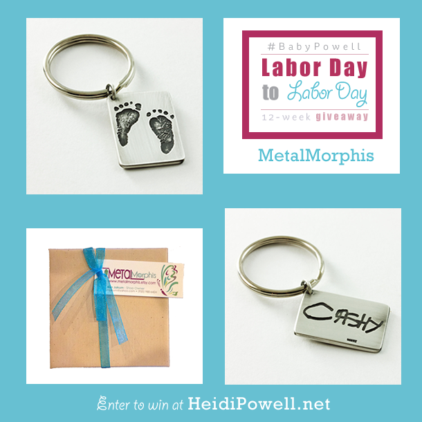 Cherish those precious memories for a lifetime with these handcrafted keychains from MetaMorphis. Enter to win at http://HeidiPowell.net/5052 #BabyPowell