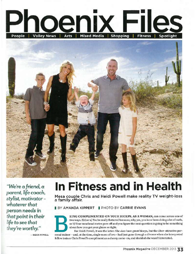 Phoenix Magazine – December 2013: In Fitness and in Health