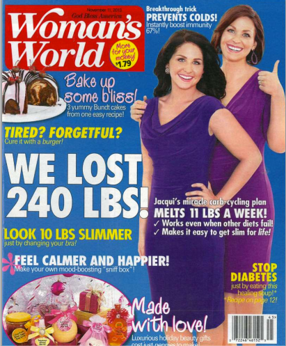 Woman's World - We lost 240 lbs! Click to view full article on http://heidipowell.net/5559