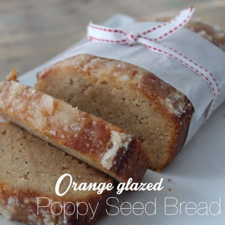 Orange Glazed Poppy Seed Bread