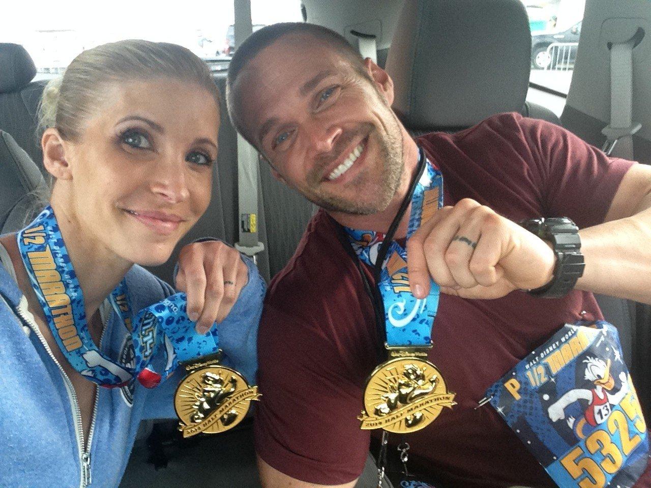 Disney 1-2 marathon medals