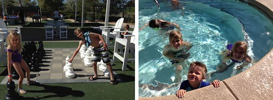powell-pack-playing-lazyriver