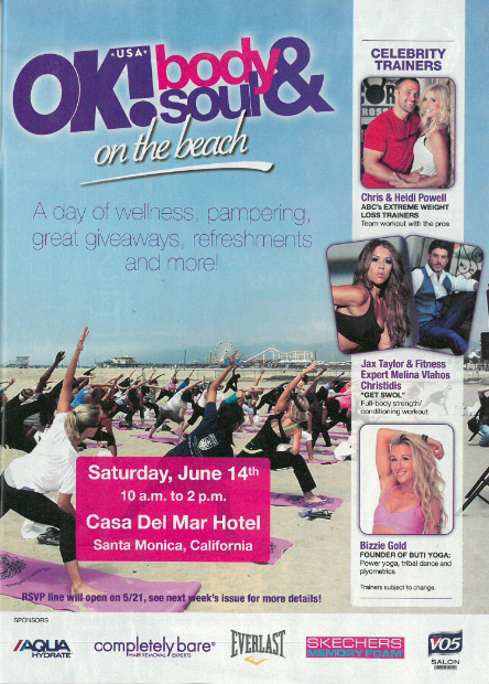 June 14 – OK! Body & Soul Workout on the Beach