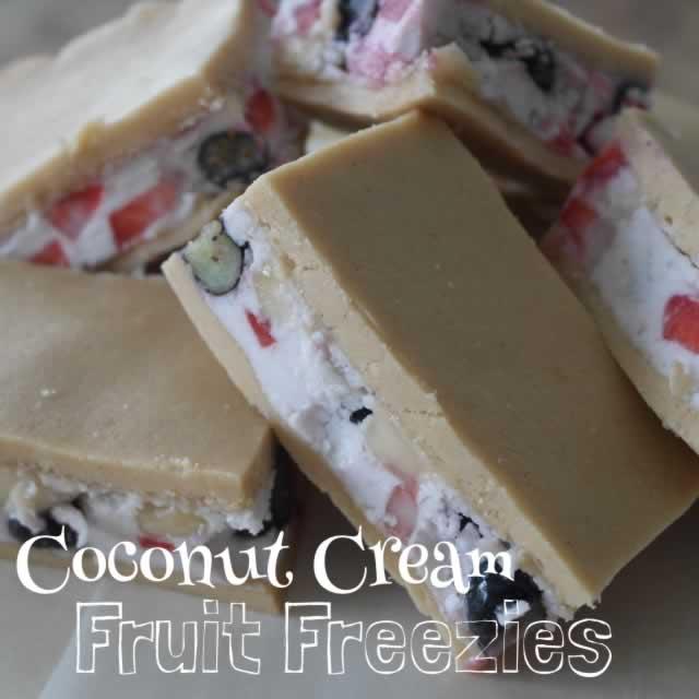 Coconut Cream Fruit Freezies