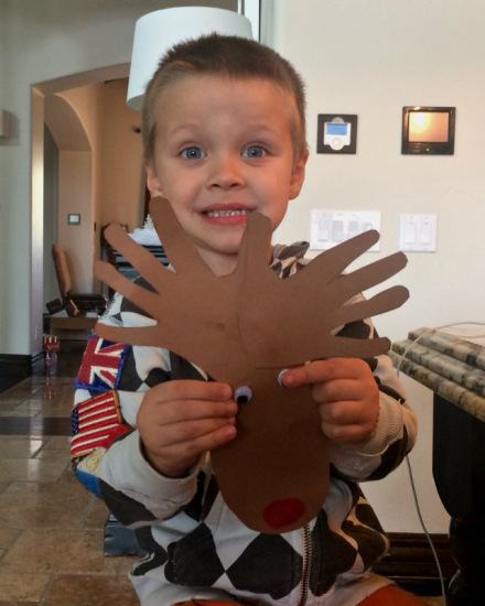 Christmas Craft: Rudolph the Thumbprint Reindeer!