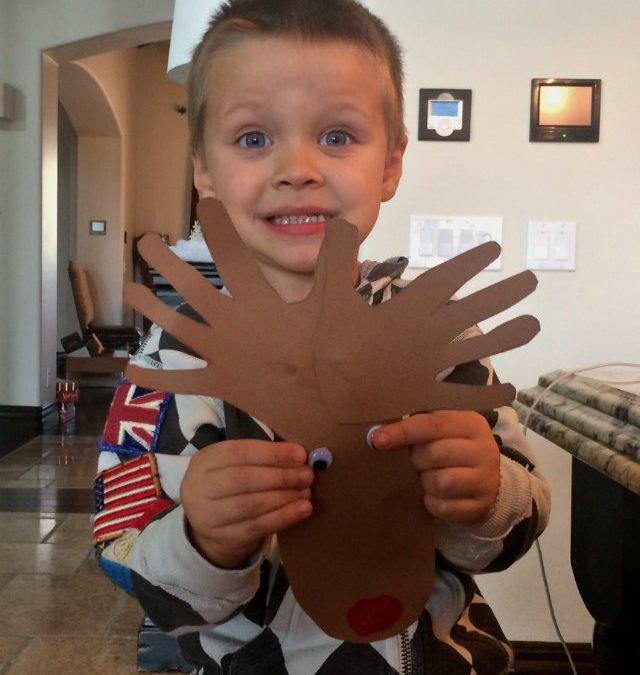 Christmas Craft: Rudolph the Thumbprint Reindeer!