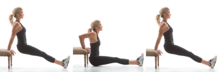 Exercise Movement Glossary: Bench Dip