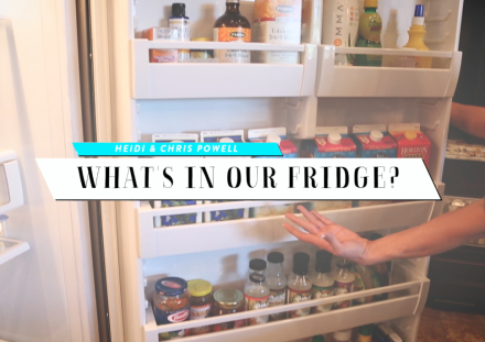 What's in Our Fridge + Chris' Secrets He Keeps Hidden in the Closet!