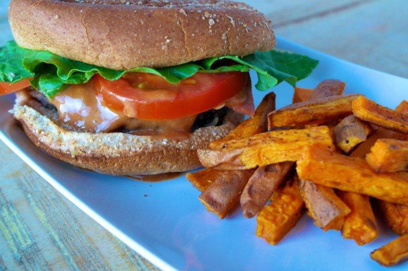Labor Day BBQ: BLT Burger + Sweet Potato Fries