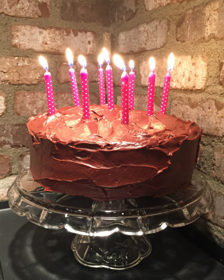 Guilt-Free Chocolate Indulgence Cake for Marley's 9th Birthday!