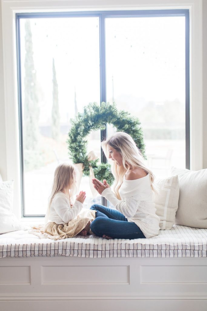 holiday outfit busy mom sweater
